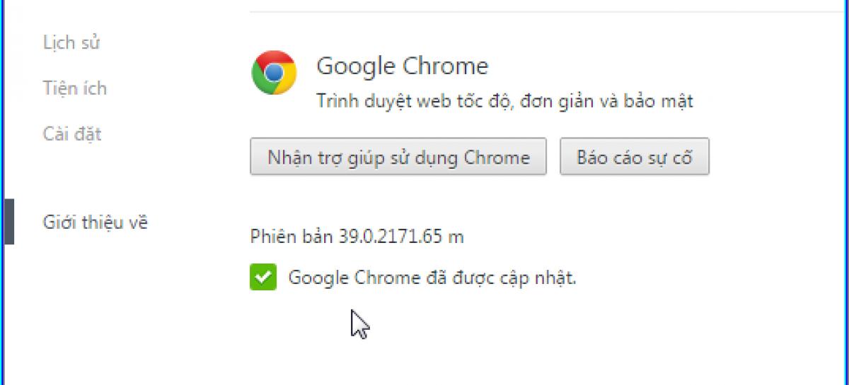 Khắc phục sự cố vỡ khung hình khi theo dõi một số website bằng trình duyệt Chrome