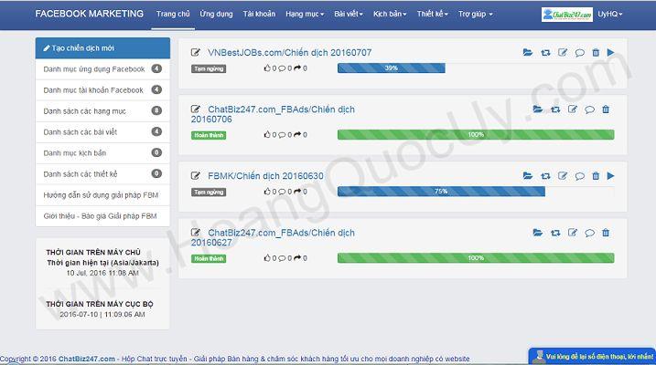 Phần mềm Facebook marketing online - Phần mềm Facebook marketing Auto Bot
