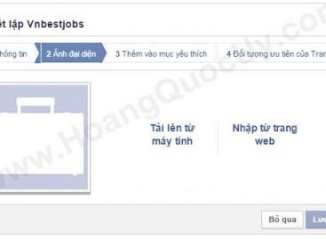Cấu hình các thiết lập quản trị cho trang Fanpage