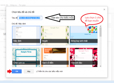 Tạo Form đăng ký online dành cho ứng viên, học viên bằng ứng dụng miễn phí của Google
