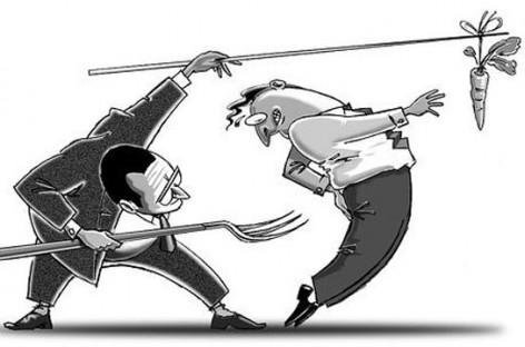 """Câu chuyện """"Cây gậy và củ cà rốt"""" – Cách hành xử của nhà quản lý"""
