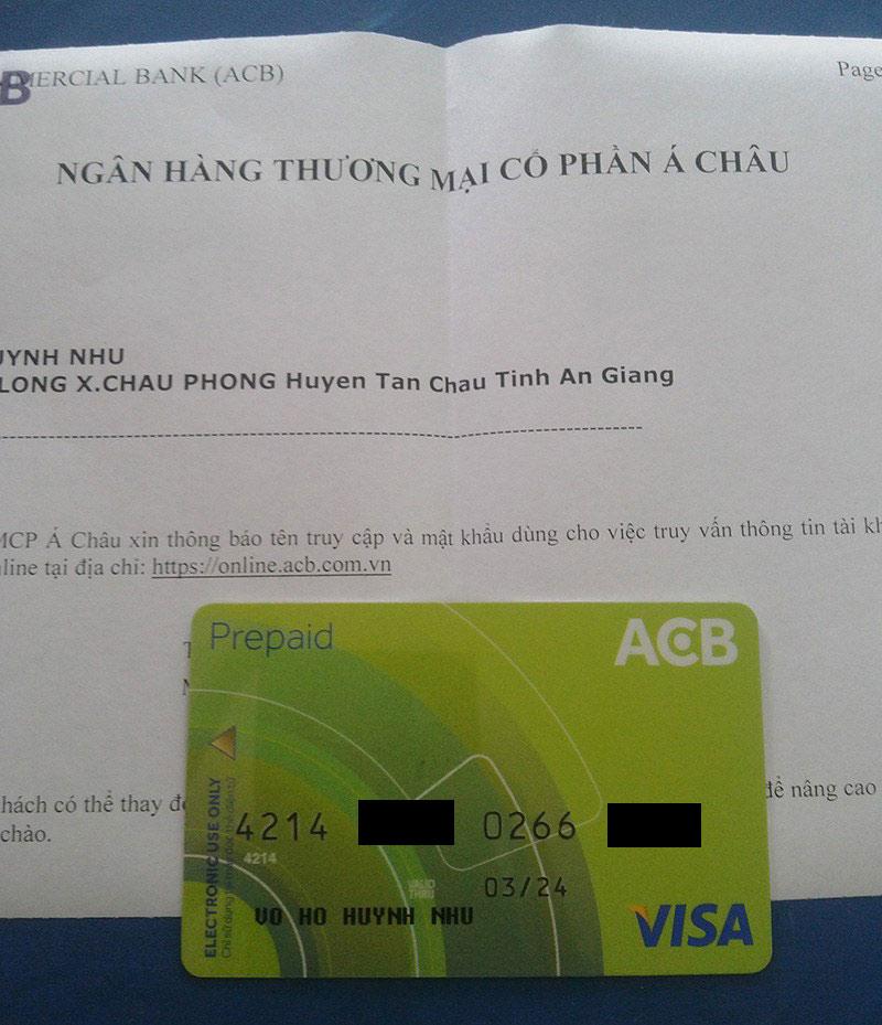 Đăng ký thẻ visa tại ngân hàng ACB
