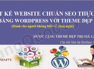 Khóa học Thiết kế website chuẩn SEO bằng WordPress