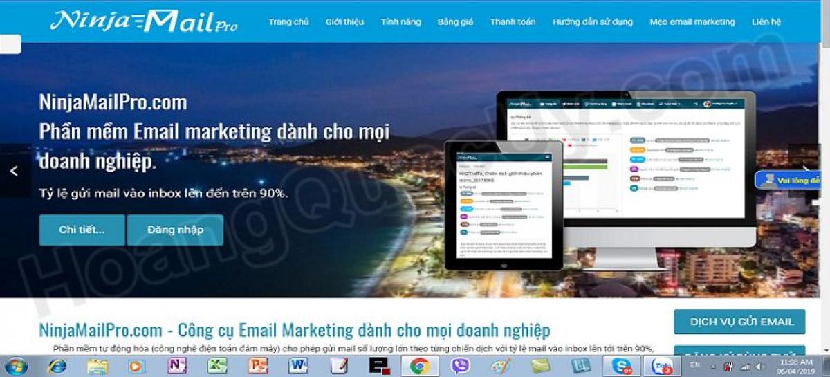 Phần mềm gửi email hàng loạt vào inbox NinjaMailPro