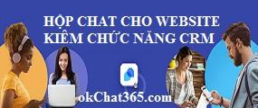 Hộp Chat trực tuyến cho website kiêm chức năng CRM nhỏ gọn