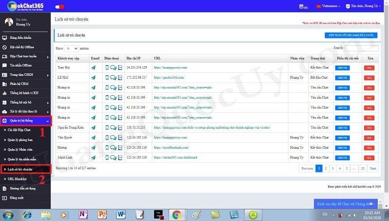 Truy xuất thông tin khách hàng khi tương tác trực tuyến